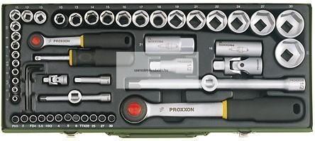 """Dugókulcskészlet 4-32mm -ig Proxxon, 56részes 1/4"""" + 1/2"""""""