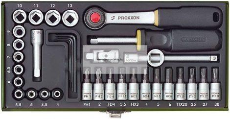 """Dugókulcskészlet 4-13mm-ig Proxxon, 36-részes 1/4"""""""