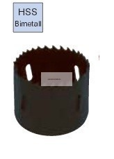 HSS Bimetál lyukfűrész 51-59mm-ig választható méretekben