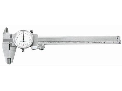 Acél tolómérő 150mm-es mérőórás