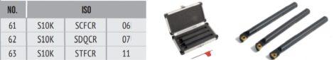 Váltólapkás esztergakés készlet 3db-os 10mm-es befogás