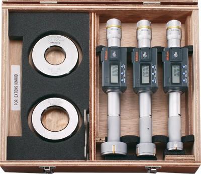 Mitutoyo digitális hárompontos furatmérő mikrométerkészlet 25-50mm-ig