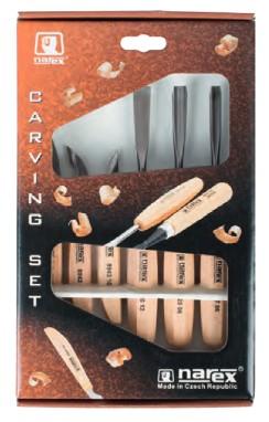Faszobrász vésőkészlet fa nyéllel Narex 6db-os