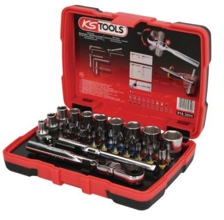 """Dugókulcskészlet 5-14mm-ig KS-Tools 33-részes 1/4"""" TORSIONpower"""