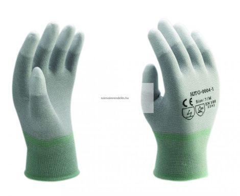 ESD kesztyű PU ujjvégmártással, több méretben