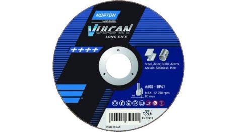 Vágókorong Norton Vulcan Inox, acél és  nemesacél vágásához, 125x1mm vastag